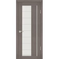 Дверь Profilo Porte PS-41 Грей мелинга со стеклом Сатинат