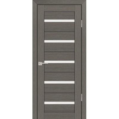 Дверь Profilo Porte PS-7 Грей мелинга со стеклом Сатинат