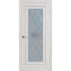 Дверь Profilo Porte PSB-25 ДО Дуб Гарвард кремовый со стеклом Сатинат