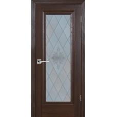 Дверь Profilo Porte PSB-25 ДО Дуб Оксфорд темный со стеклом Сатинат