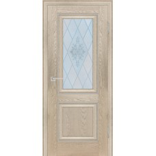 Дверь Profilo Porte PSB-27 ДО Дуб Гарвард бежевый со стеклом Сатинат