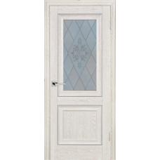 Дверь Profilo Porte PSB-27 ДО Дуб Гарвард кремовый со стеклом Сатинат