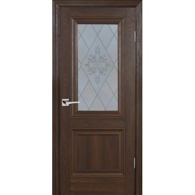 Дверь Profilo Porte PSB-27 ДО Дуб Оксфорд темный со стеклом Сатинат