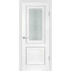 Дверь Profilo Porte PSB-27 ДО Пломбир со стеклом Сатинат