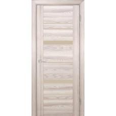 Дверь Profilo Porte PSK-2 ДО Ривьера крен-экрю со стеклом Кремовый Лакобель
