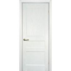 Ульяновская дверь шпонированная Текона Вайт 02 ДГ Ясень айсберг