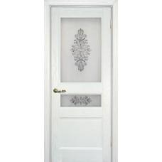 Ульяновская дверь шпонированная Текона Вайт 02 ДО Ясень айсберг
