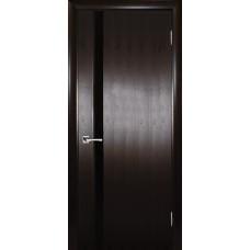 Ульяновская дверь шпонированная Текона Страто 01 ДО Тонированный черный дуб