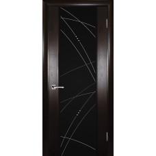 Ульяновская дверь шпонированная Текона Страто 02 ДО Тонированный черный дуб