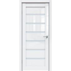 Глянцевая дверь экошпон Triadoors 583 ДО Белый глянец