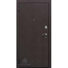 Дверь входная Двери регионов Вектор лофт Х7 Горький шоколад  / Кремовая лиственница