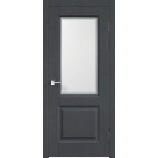 Дверь экошпон Velldoris Alto 6 ДО Ясень графит структурный со стеклом Контур