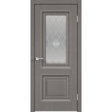 Дверь экошпон Velldoris Alto 7 ДО Ясень грей структурный со стеклом Кристалл серебро
