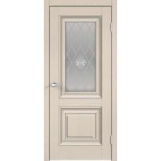Дверь экошпон Velldoris Alto 7 ДО Ясень капучино структурный со стеклом Кристалл серебро