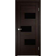 Дверь Velldoris Domino 1 венге стекло Lakobel черное