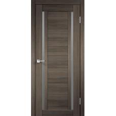 Дверь экошпон Velldoris Duplex 2 Дуб серый со стеклом Matelux