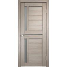 Дверь экошпон Velldoris Duplex 3 Капучино со стеклом Matelux