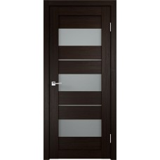 Дверь экошпон Velldoris Duplex 12 Венге со стеклом Matelux
