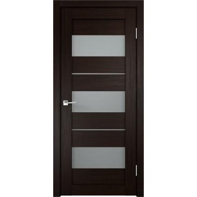 Дверь экошпон Velldoris Duplex 12 венге стекло Matelux