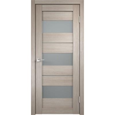Дверь экошпон Velldoris Duplex 12 Капучино со стеклом Matelux