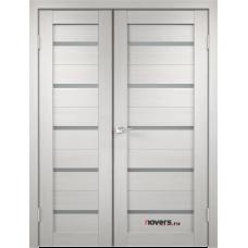 Дверь с притвором Velldoris Duplex двустворчатая Дуб белый со стеклом Matelux