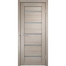Дверь с притвором Velldoris Duplex Капучино со стеклом Matelux
