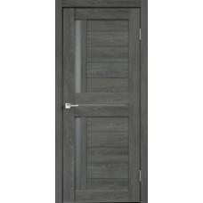 Дверь экошпон Velldoris Duplex 3 Дуб шале графит со стеклом Matelux