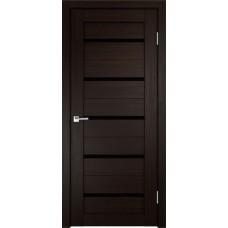 Дверь экошпон Velldoris Duplex Венге со стеклом Lacobel черное