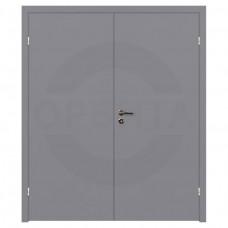 Дверь финская гладкая окрашенная двухстворчатая с четвертью Velldoris Серая (RAL 7040)