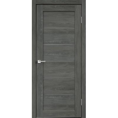 Дверь экошпон Velldoris Linea 1 Дуб шале графит со стеклом Matelux