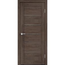 Дверь экошпон Velldoris Linea 1 Дуб шале корица со стеклом Matelux