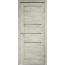 Дверь экошпон Velldoris Linea 1 Дуб шале седой со стеклом Matelux