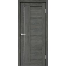 Дверь экошпон Velldoris Linea 3 Дуб шале графит со стеклом Matelux