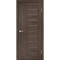 Дверь экошпон Velldoris Linea 3 Дуб шале корица со стеклом Matelux