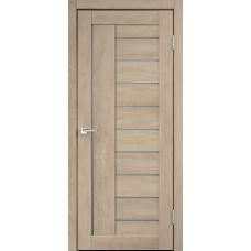 Дверь экошпон Velldoris Linea 3 Дуб шале песок со стеклом Matelux