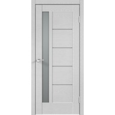 Дверь экошпон Velldoris Premier 3 Ясень белый стекло мателюкс
