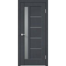 Дверь экошпон Velldoris Premier 3 Ясень графит стекло мателюкс