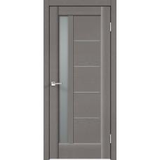 Дверь экошпон Velldoris Premier 3 Ясень грей стекло мателюкс