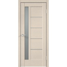 Дверь экошпон Velldoris Premier 3 Ясень капучино стекло мателюкс
