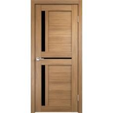 Дверь с притвором Velldoris Duplex 3 Дуб золотой со стеклом Lacobel черным