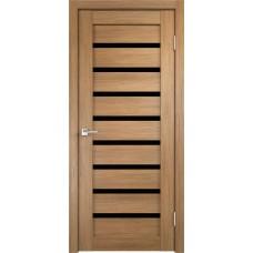Дверь с притвором Velldoris Duplex 8 Дуб золотой со стеклом Lacobel черным