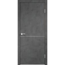 Дверь экошпон Velldoris Techno M1 Муар темно-серый с AL кромкой