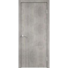 Дверь экошпон Velldoris Techno M2 Муар светло-серый с AL кромкой