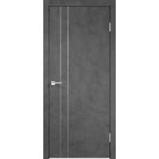 Дверь экошпон Velldoris Techno M2 Муар темно-серый с AL кромкой