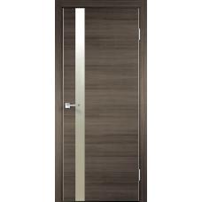 Дверь экошпон Velldoris Techno Z1 Дуб серый поперечный с зеркалом матовым и с AL кромкой