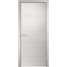 Дверь экошпон Velldoris Techno Дуб белый поперечный с AL кромкой