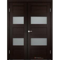 Дверь с притвором Velldoris Trend 2V двустворчатая Венге со стеклом Matelux