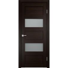 Дверь с притвором Velldoris Trend 2V Венге со стеклом Matelux