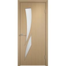 Дверь ламинированная Verda C-02 ДО Беленый дуб АЙС