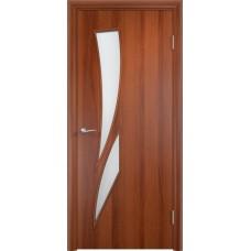 Дверь ламинированная Verda C-02 ДО Итальянский орех